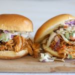 Slow cooker BBQ chilli maple shredded chicken burgers (and a review of the Cuisinart 3 in 1 MSC-600A Multi Cooker)